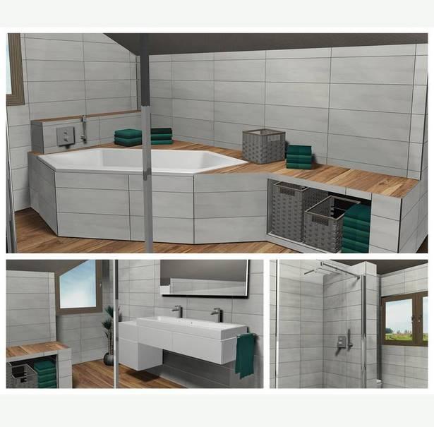 badgestaltung kleines bad mit dachschr ge. Black Bedroom Furniture Sets. Home Design Ideas