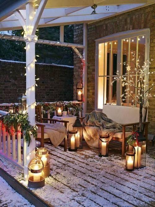 balkon dekoration weihnachten. Black Bedroom Furniture Sets. Home Design Ideas
