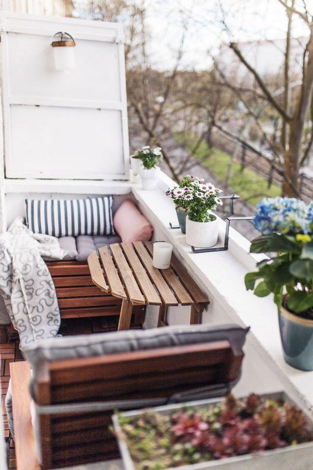 balkon gem tlich einrichten. Black Bedroom Furniture Sets. Home Design Ideas