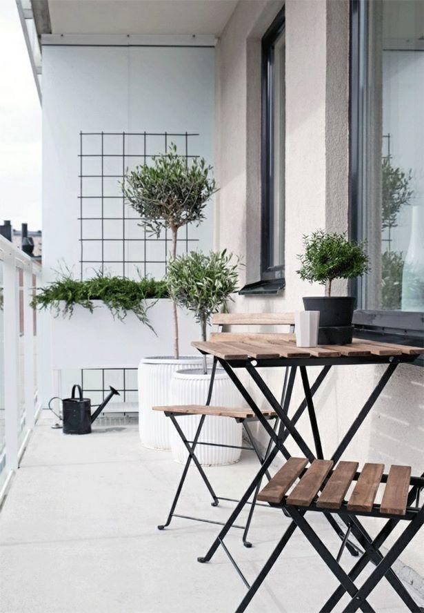 balkon platzsparend einrichten. Black Bedroom Furniture Sets. Home Design Ideas