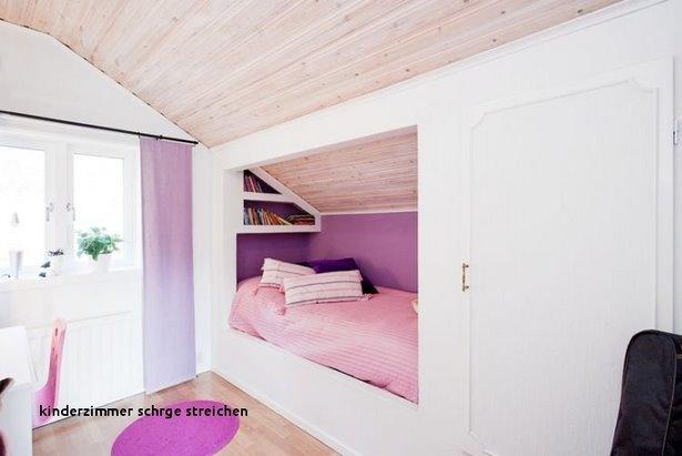deko ideen kinderzimmer mit schr ge. Black Bedroom Furniture Sets. Home Design Ideas