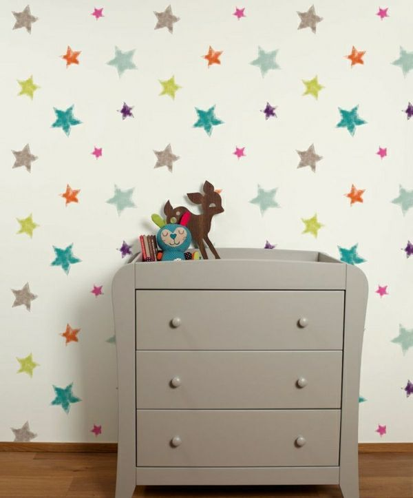 deko tapete kinderzimmer. Black Bedroom Furniture Sets. Home Design Ideas