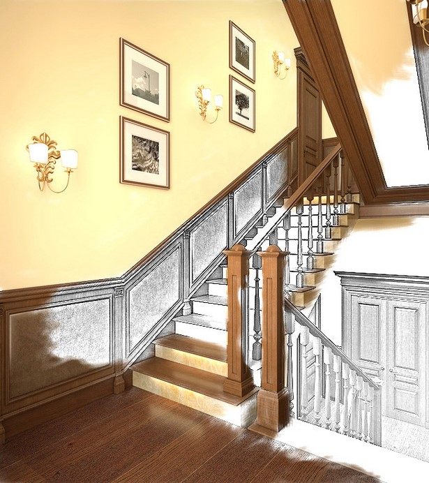 Wandgestaltung Treppenaufgang Gestalten: Farben Für Flur Und Treppenhaus