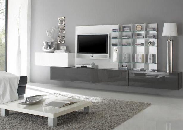 wohnzimmer in grau wei. Black Bedroom Furniture Sets. Home Design Ideas