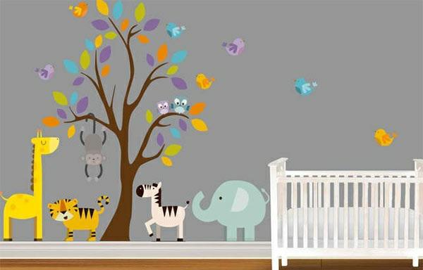 Babyzimmer ideen wandgestaltung for Kinderzimmer gestalten baby