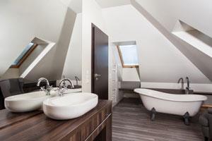 Design Badezimmer Modern Stein Fliesen Laminat