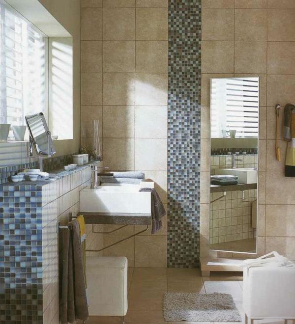 Badezimmer Mosaik Blau - Design