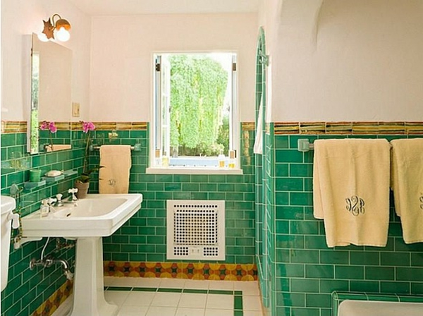 grne bad fliesen ideen frs badezimmer interessante gestaltung - Fliesen Gestaltung Badezimmer