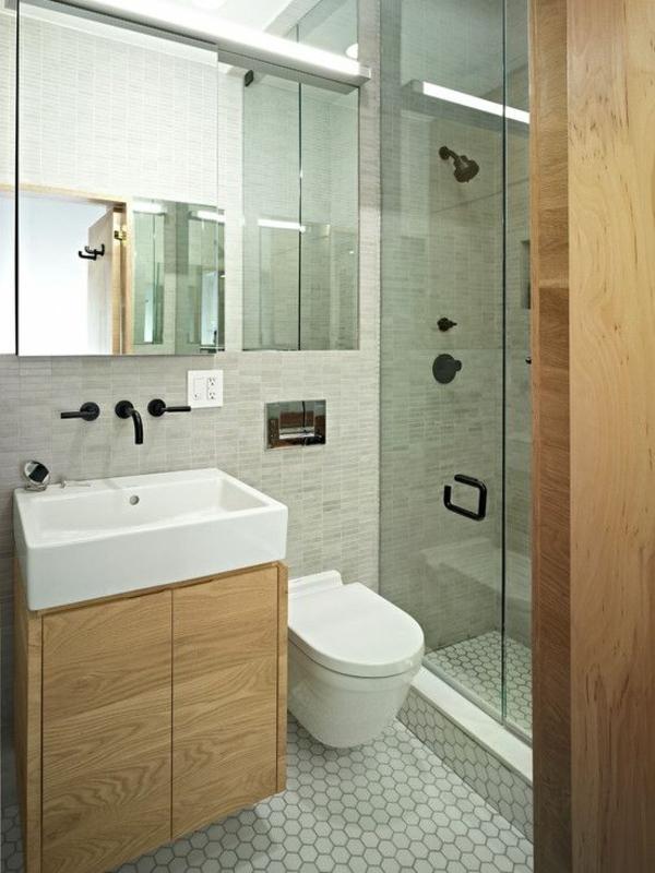 Holzmöbel Bad badezimmer ideen kleines bad