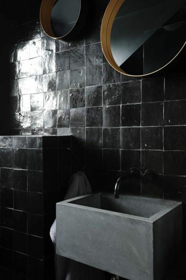 Badezimmer Mit Schwarzen Fliesen badezimmer schwarze fliesen