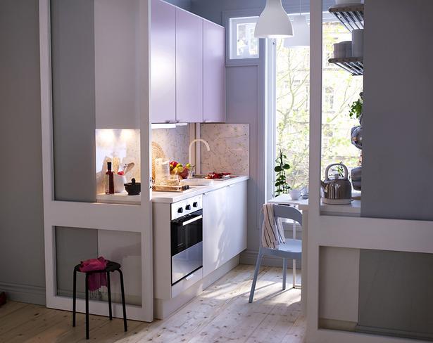 einrichtung kleine k che. Black Bedroom Furniture Sets. Home Design Ideas