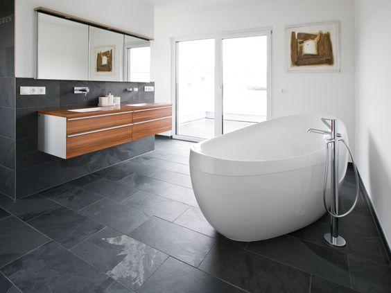 Kleines Bad Fliesen Holzoptik Badfliesen Moderne Badezimmer