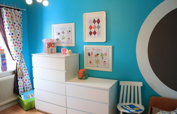 wandfarben ideen frs kinderzimmer junge himmelsblau weisse moebel - Ideen Furs Kinderzimmer Junge
