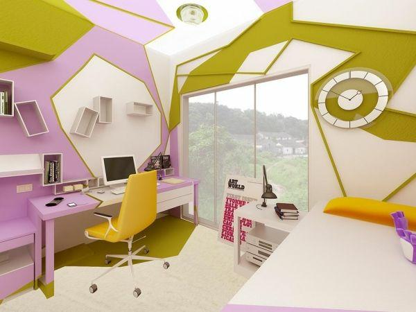 Jugendzimmer tapezieren ideen