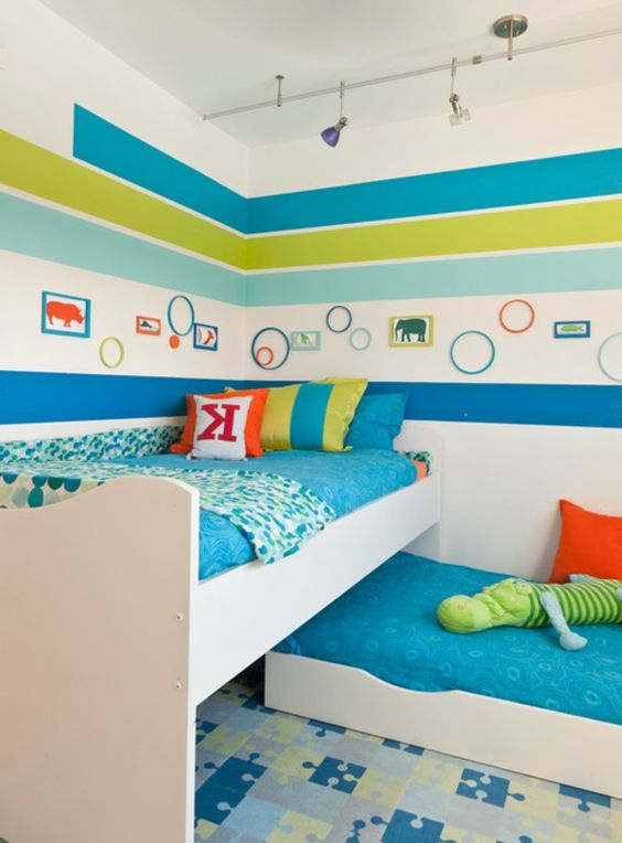 Kinderzimmer wandgestaltung farbe - Gestaltungsideen babyzimmer ...