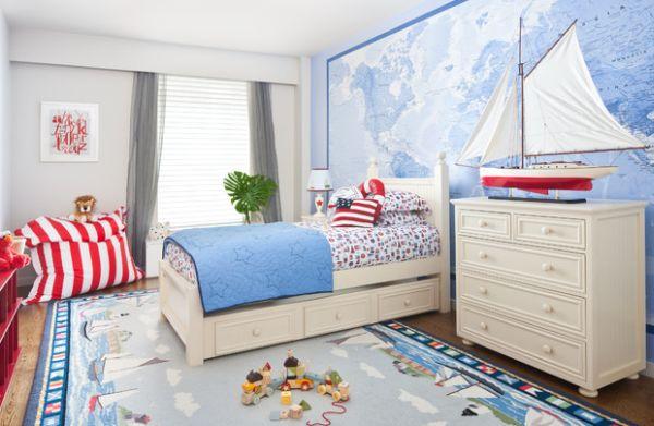 Nautische Motive Kinderzimmer Jungs Einrichtung Wandgestaltung Ideen