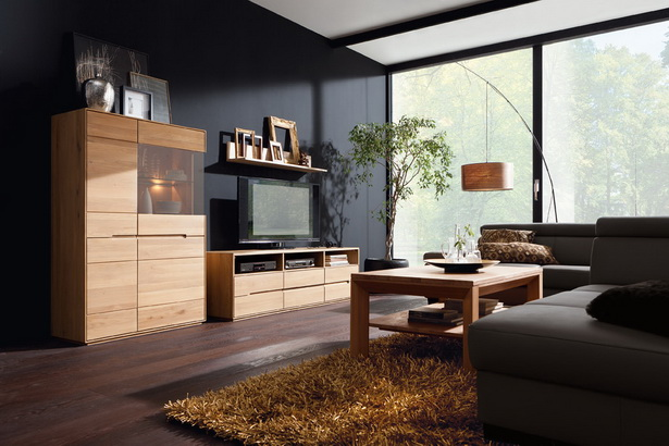 m bel wohnzimmer echtholz. Black Bedroom Furniture Sets. Home Design Ideas