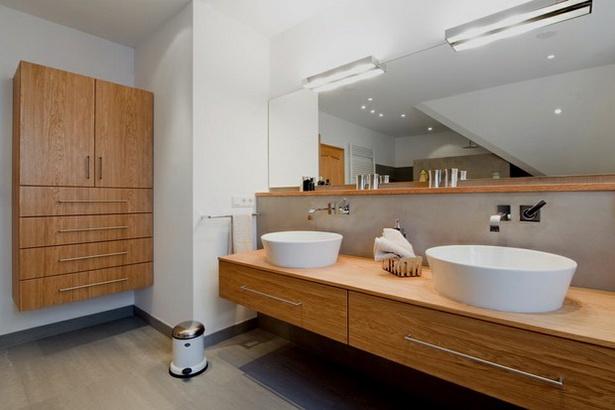 Moderne b der mit holz for Badeinrichtung waschbecken