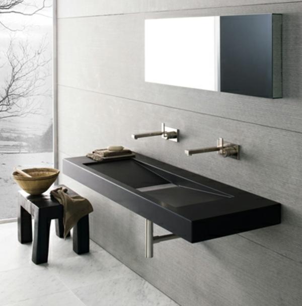 Moderne waschbecken bad - Graues badezimmer ...