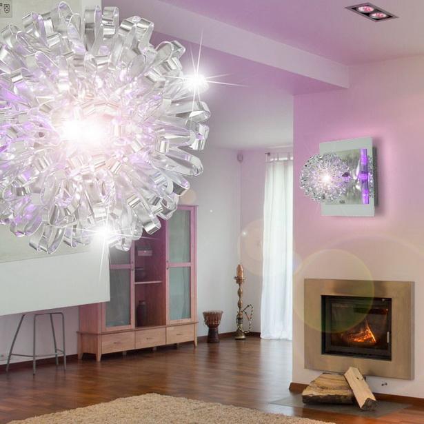 Moderne Wandleuchte LED Beleuchtung Wohnzimmer Deckenleuchte Deckenlampe  Chrom