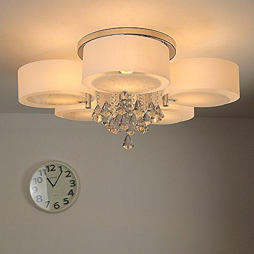 Natsen® Modern Deckenlampe 5 Flammig Kristall Deckenleuchte Designer  Wohnzimmer Lampe LED E27 Ø75cm