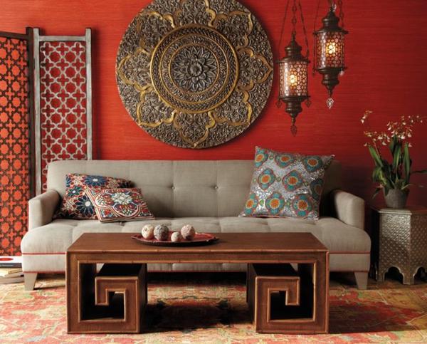 Wohnideen Orientalischer Stil orientalische einrichtung wohnzimmer