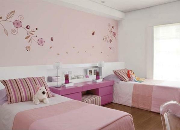 Wandgestaltung kinderzimmer mit farbe