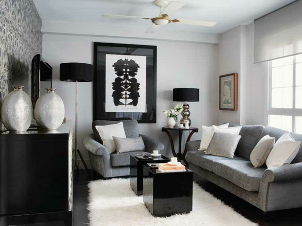 wohnzimmer einrichten grau. Black Bedroom Furniture Sets. Home Design Ideas