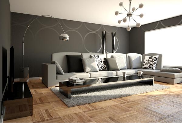 Wohnzimmer Grau Holz : Wohnzimmer einrichten grau