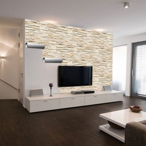 Coole wandgestaltung wohnzimmer