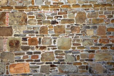 Dekorative wandgestaltung in steinoptik