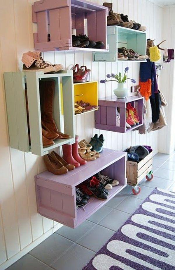 Diy ideen einrichtung - Schuhregal bauen ...