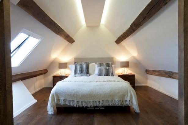 Wandgestaltung Bei Dachschrä ideen schlafzimmer dachschräge