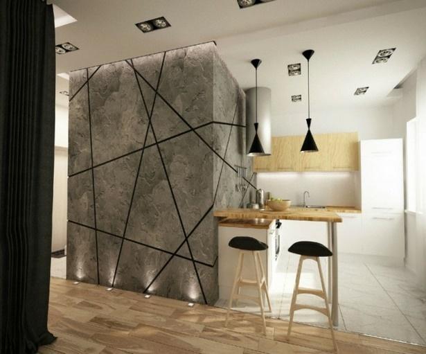 ideen wandgestaltung k che. Black Bedroom Furniture Sets. Home Design Ideas