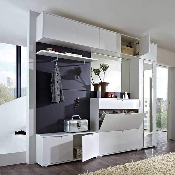 kleiner flur garderobe. Black Bedroom Furniture Sets. Home Design Ideas