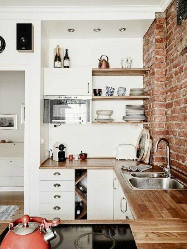 Offene kuche einrichten for Küchen wandregale