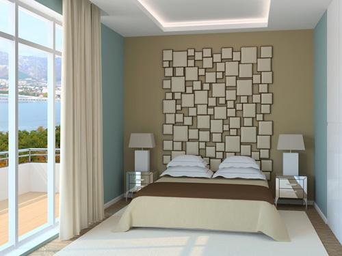 Wandgestaltung Schlafzimmer Farbe : Schlafzimmer wandgestaltung farbe