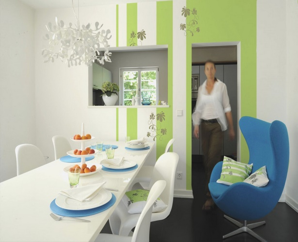 Wandgestaltung esszimmer ideen - Schwarz im esszimmer ideen einrichtung ...