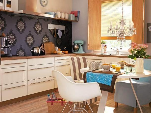 Wandgestaltung mit farbe küche