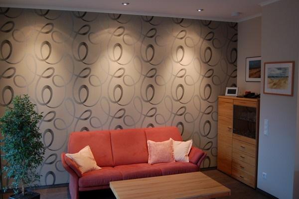 wandgestaltung mit tapeten beispiele. Black Bedroom Furniture Sets. Home Design Ideas