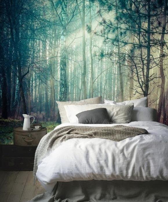 Wandgestaltung schlafzimmer vliestapete - Wandgestaltung im schlafzimmer ...