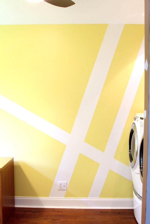 Wandgestaltung streifen ideen
