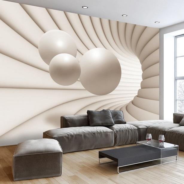 Wandgestaltung tapete wohnzimmer
