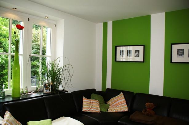 Wandgestaltung wohnzimmer farbe