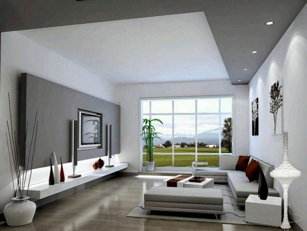 Wandgestaltung wohnzimmer grau