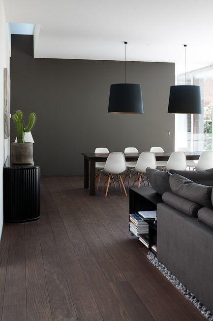 Wohnzimmer deko ideen braun