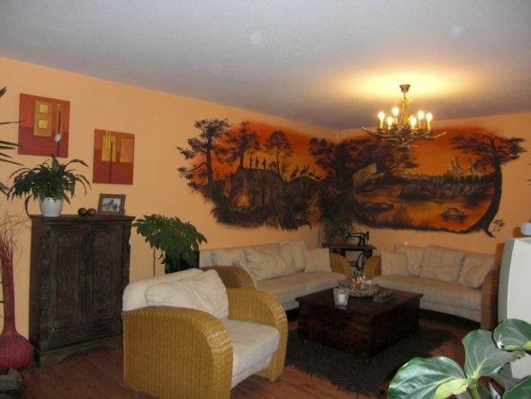 Wohnzimmer afrikanisch gestalten
