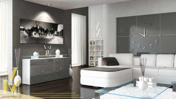wohnzimmer eine wand farbig. Black Bedroom Furniture Sets. Home Design Ideas