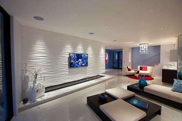 Wohnzimmer modern tapezieren