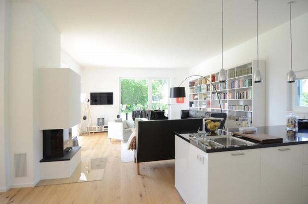Wohnzimmer offener küche einrichten